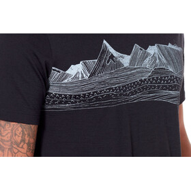 Icebreaker Tech Lite Pyrenees SS Crew Shirt Men Black
